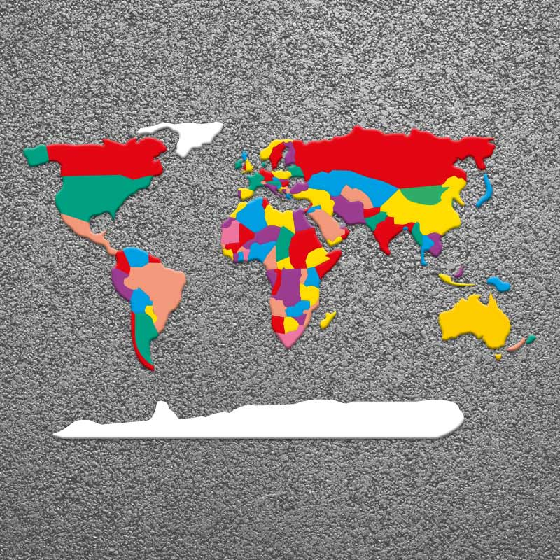 World Map Countries Large Thermoplastic Anti Slip Playground - Earth map countries